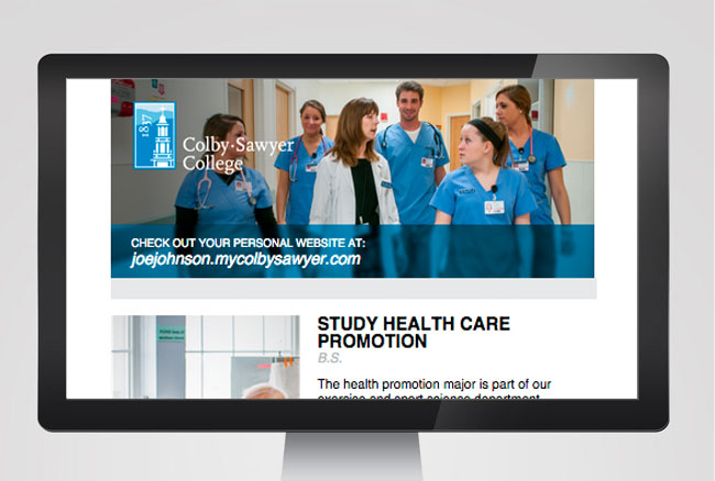 Colby-Sawyer Personal URL landing page